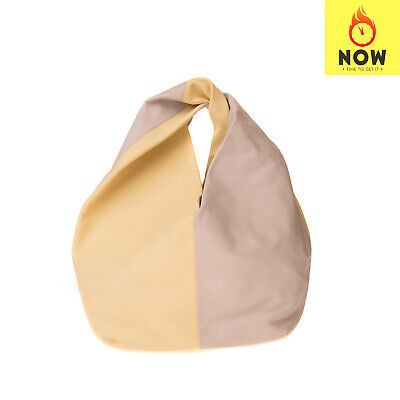 RRP €1480 J.W.ANDERSON Leather Hobo Bag Large Grainy Twisted Handle Slouchy