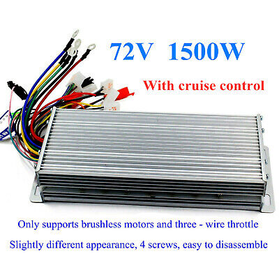 72v 1500w E-bike Scooter Brushless Dc Motor Speed Controller With Cruise Lines