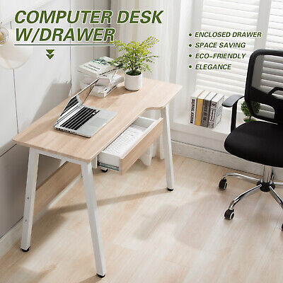 Wood Computer Desk Student Study Writing Pc Laptop Table Ergonomic Unique Shape