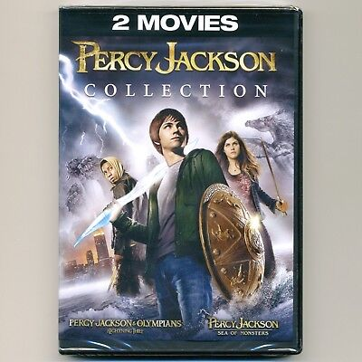 2 movies: Percy Jackson & Olympians Lightning Thief, Sea of Monsters PG, new DVD for sale  Shipping to India