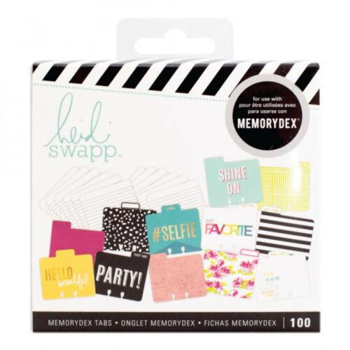 Heidi Swapp SELFIE MEMORYDEX (100) CARDS- (12) TABBED DIVIDERS (88) LINED CARDS