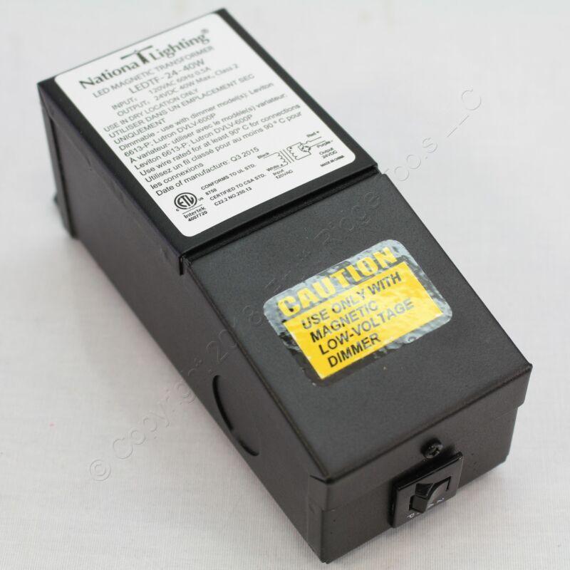 National Lighting 40W LED Magnetic Transformer Class 2 24VDC 60Hz LEDTF-24-40W