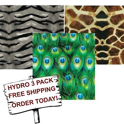Hydro Dip Hydrographic Film Water Transfer Printing Film Zoo 3 Pack