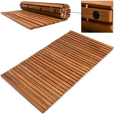 Badematte Badmatte Holzmatte Akazie Holz Badvorleger Vorleger Duschvorlage Matte