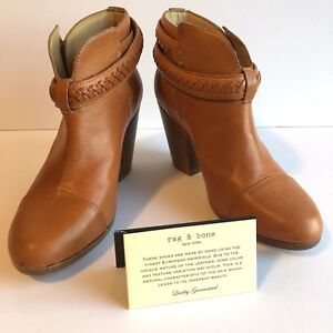RAG and BONE Harrow Natural Leather Booties 6.5