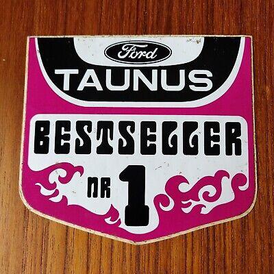 Vintage sticker autocollant Ford Taunus bestseller nr 1