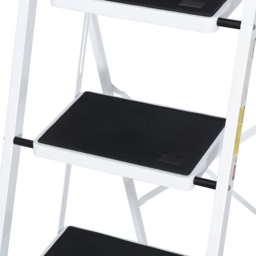 4 Step Ladder with Convenient Handgrip Anti-Slip Sturdy and Wide Pedal 330lbs Home & Garden