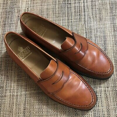 Crockett & Jones Harvard Penny Loafer Made in England Whiskey Brown Leather 9.5