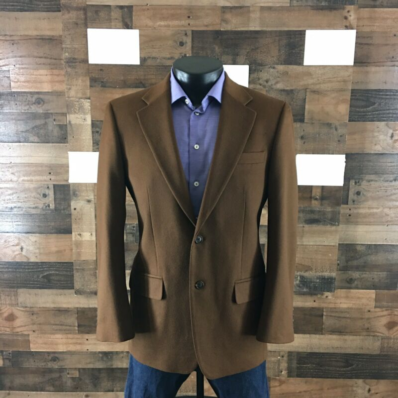 Tasso Elba Sport Coat Blazer Jacket Cashmere Brown Men's 38R