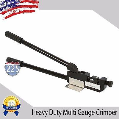 "24"" Heavy Duty 8 - 4/0 AWG Large Gauge Ring Terminal Crimper w/ Mounting Bracket"
