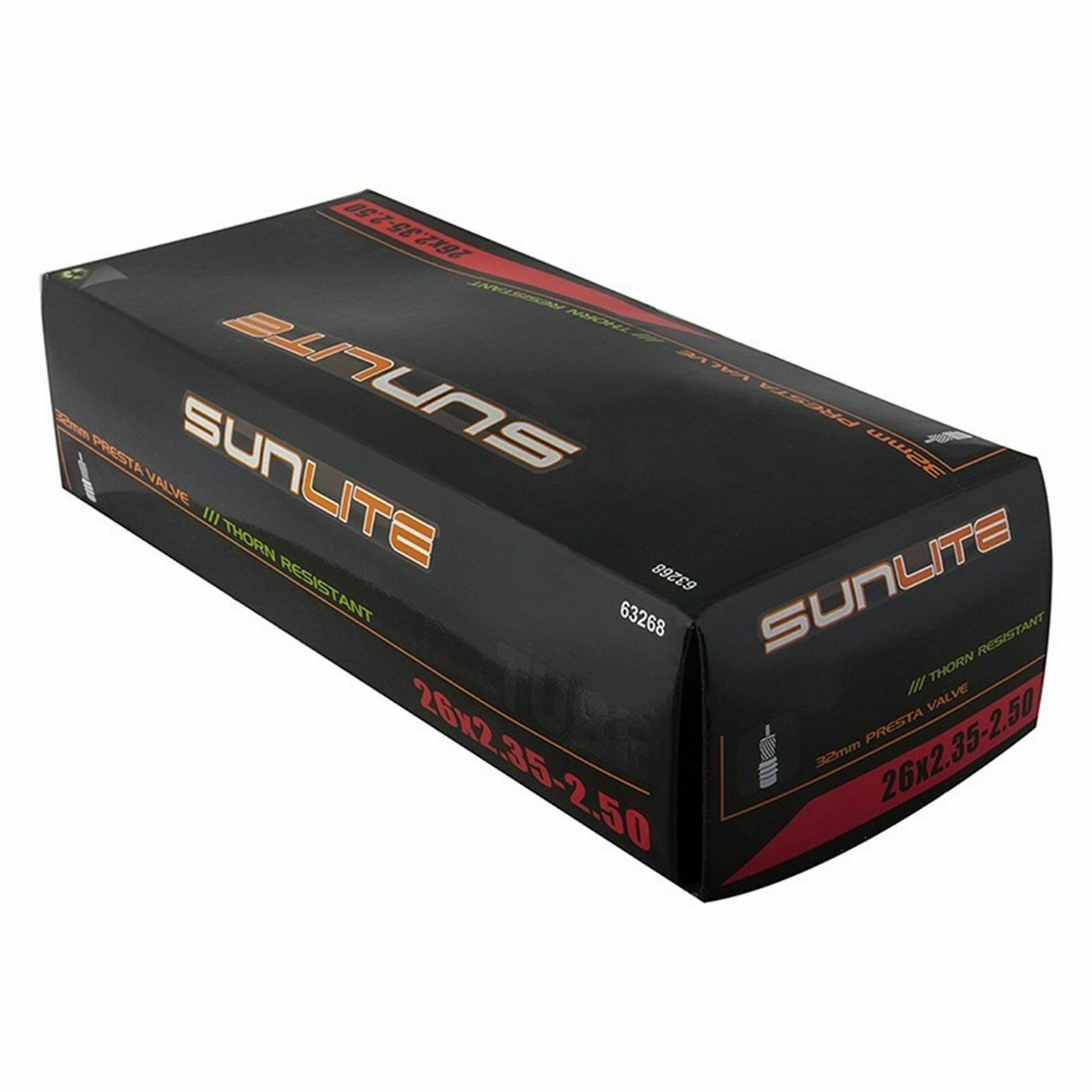 TUBES SUNLT THORN RES PV 32mm 26x2.35-2.50 Sunlite Thorn Resistant Presta Valve
