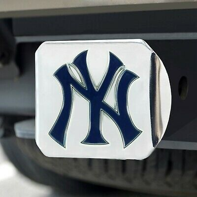 New York Yankees Heavy Duty 3-D Color Emblem Chrome Metal Hitch Cover