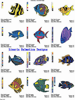 FANCY FISH V.3 (4X4) Multi-Format Machine Embroidery Designs on CD-Rom