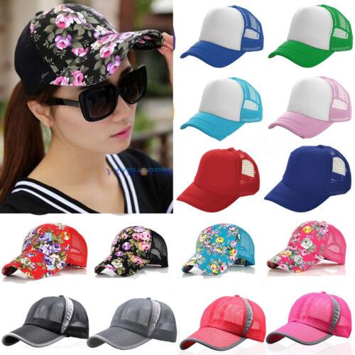 Herren Damen Mesh Baseball Cap Kappe Basecap Mütze Sports Trucker Hüte Sonnenhut