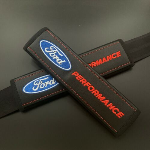 Performance Seat Belt Shoulder Pads Cover with embroidery Fit to Ford 2pcs