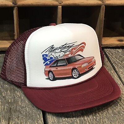 Fox Body Ford Mustang Vintage 80's Style Trucker Hat Snapback  GT 5.0 Cobra 1988