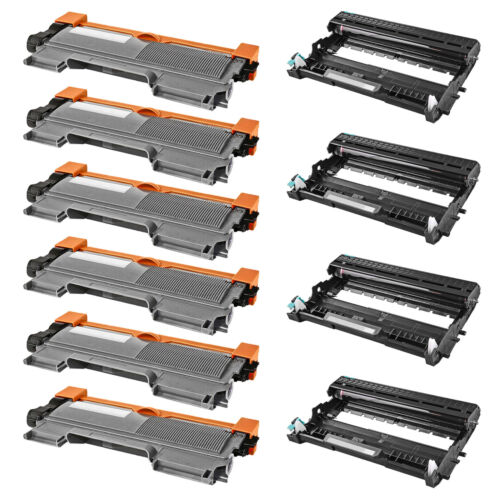 6x Tn450+4x Dr420 Toner Drum For Brother Hl-2240 2240d 22...
