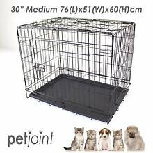 Medium Pet Dog / Cat Puppy Kennel Metal Cage Crate Pen Foldable 2 Campbellfield Hume Area Preview