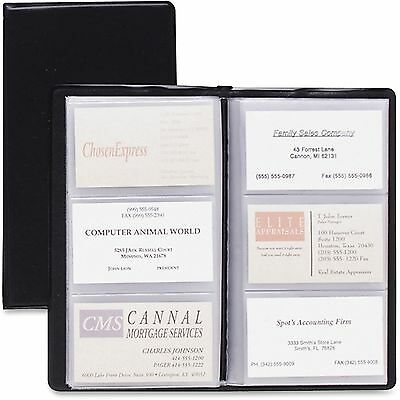 Cardinal Card Holder Business 72-card Cap 7-34x4-38 Vinyl Black 751610