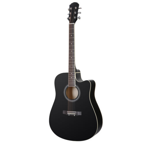 Black 41″ Acoustic String Beginner Guitar Classical Design with Case Strap Acoustic Guitars