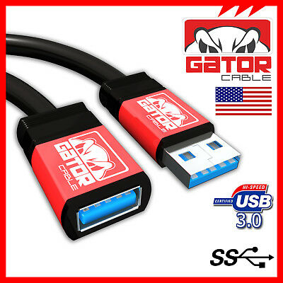 USB 3.0 Super High Speed Male A to Female A Extension Cable Cord Metal Case 10FT for sale  Shipping to India