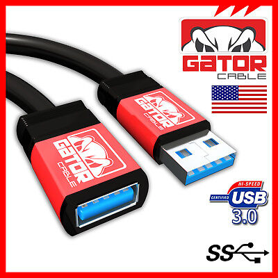 USB 3.0 Super High Speed Male A to Female A Extension Cable Cord Metal Case 6FT