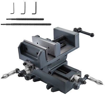 4 Compound Cross Slide Benchtop Drill Press Vise 2 Screw Rods Vise Leadscrew
