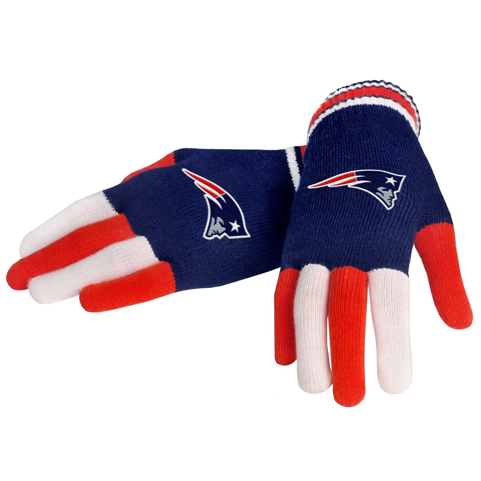מוצר Nfl Football Team Logo Multi Color Knit Gloves