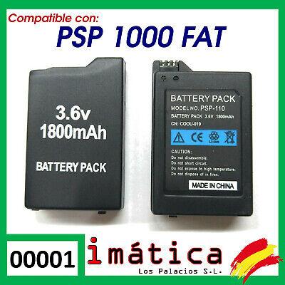 BATERIA COMPATIBLE PARA PSP 1000 1004 FAT GORDA 1800 mAh BATTERY 1001...