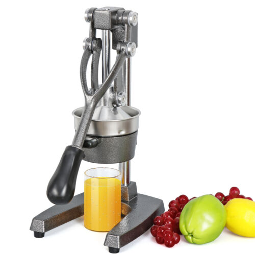 Gray Commercial Juice Maker Home Manual Press Fruit Squeezer Hand Lemon Press Home & Garden