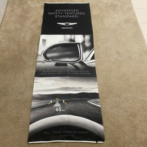 Genesis Hyundai G90 Blind Spot Black Vertical Dealership Showroom Display Banner
