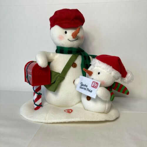 """Hallmark Christmas JINGLE PALS Animated Plush """"Special Delivery"""" Singing Snowmen"""