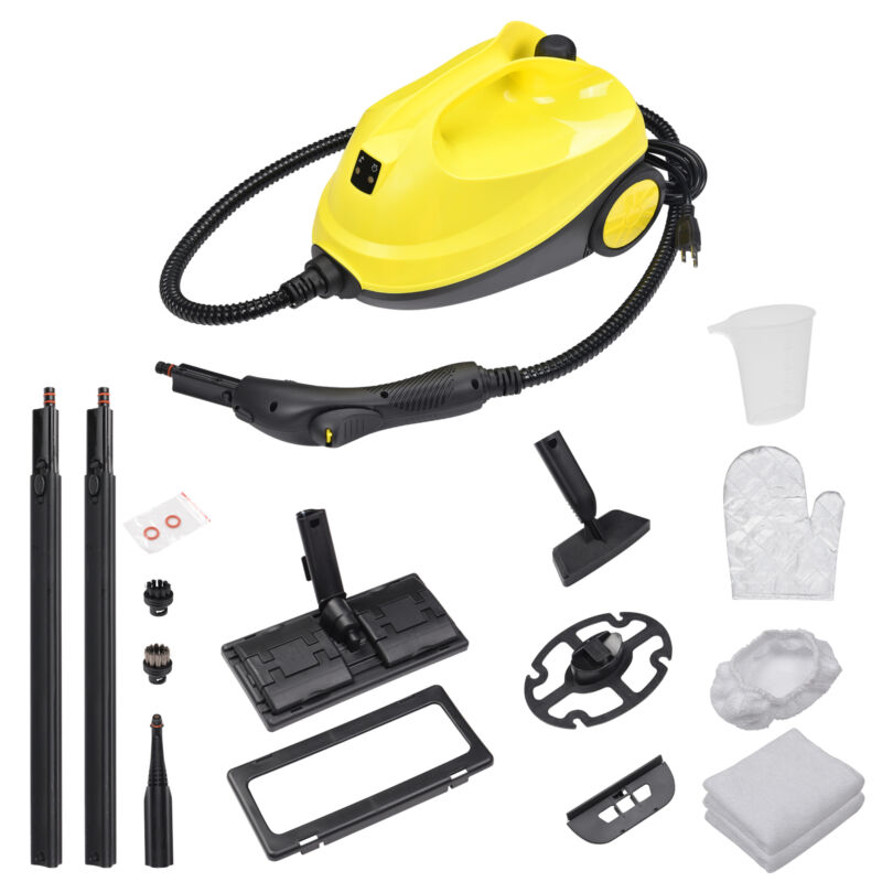 1500W Multifunctional Steam Cleaner 13 Accessories Chemical-free Cleaning Home