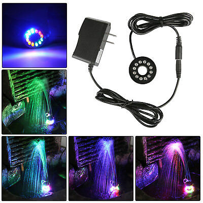 Submersible LED Fountain Ring Lighting 12 LED Lights for Water Pump Adornment