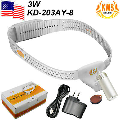 Usa Kws 3w High Cri Led Dental Portable Surgical Headlight Headband Lamp Medical