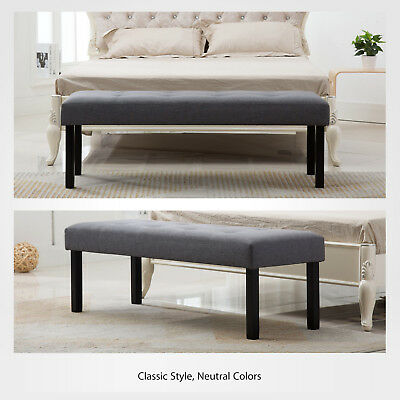"""52"""" Fabric Accent Bench Bed End Ottoman Sofa Seat Footrest Bedroom Entryway"""