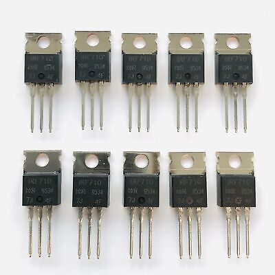Pkg Of 10 Irf710 N-channel Power Mosfet 2a 400v Ir To-220