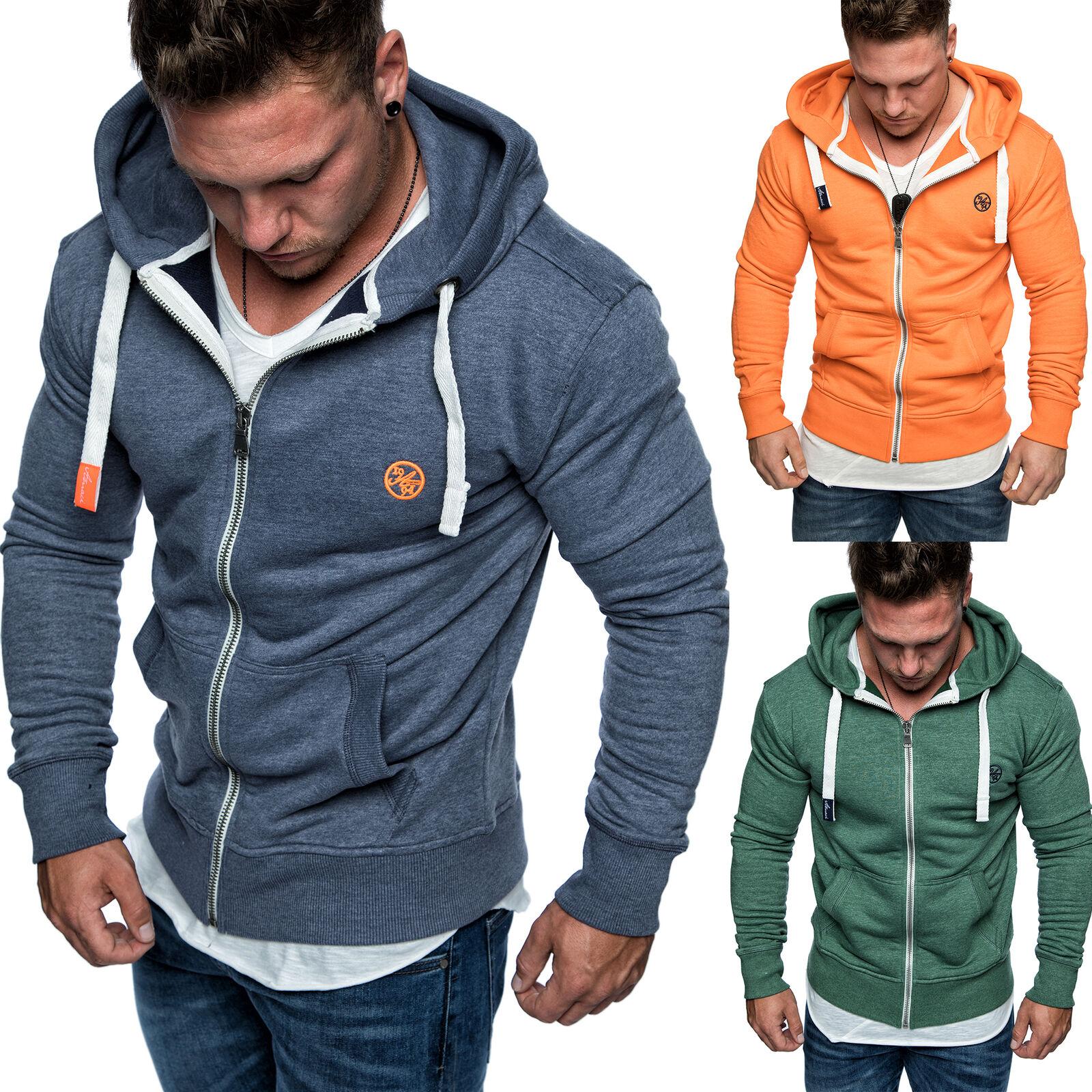 Herren Zipper Kapuzenpullover Sweatjacke Pullover Hoodie Sweatshirt 1-04029