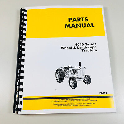 Parts Manual Catalog For John Deere 1010 Wheel Landscape Tractor Gas Diesel
