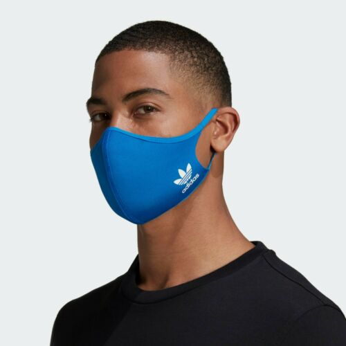 Adidas Blue Face Mask Cover Protection Adult Size Large Medium M/L Ninja Shield