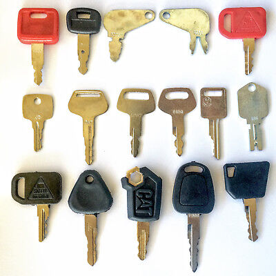 16 Keys Heavy Equipment - Construction Equipment Ignition Key Set
