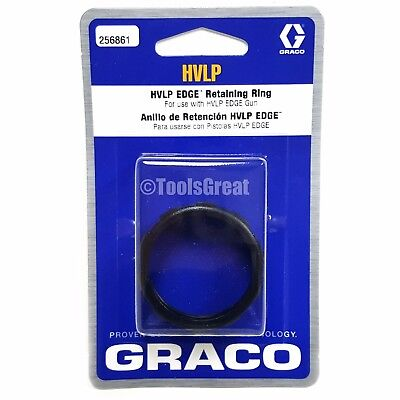 New Graco 256861 Hvlp Edge Ii Spray Gun Air Cap Retaining Ring