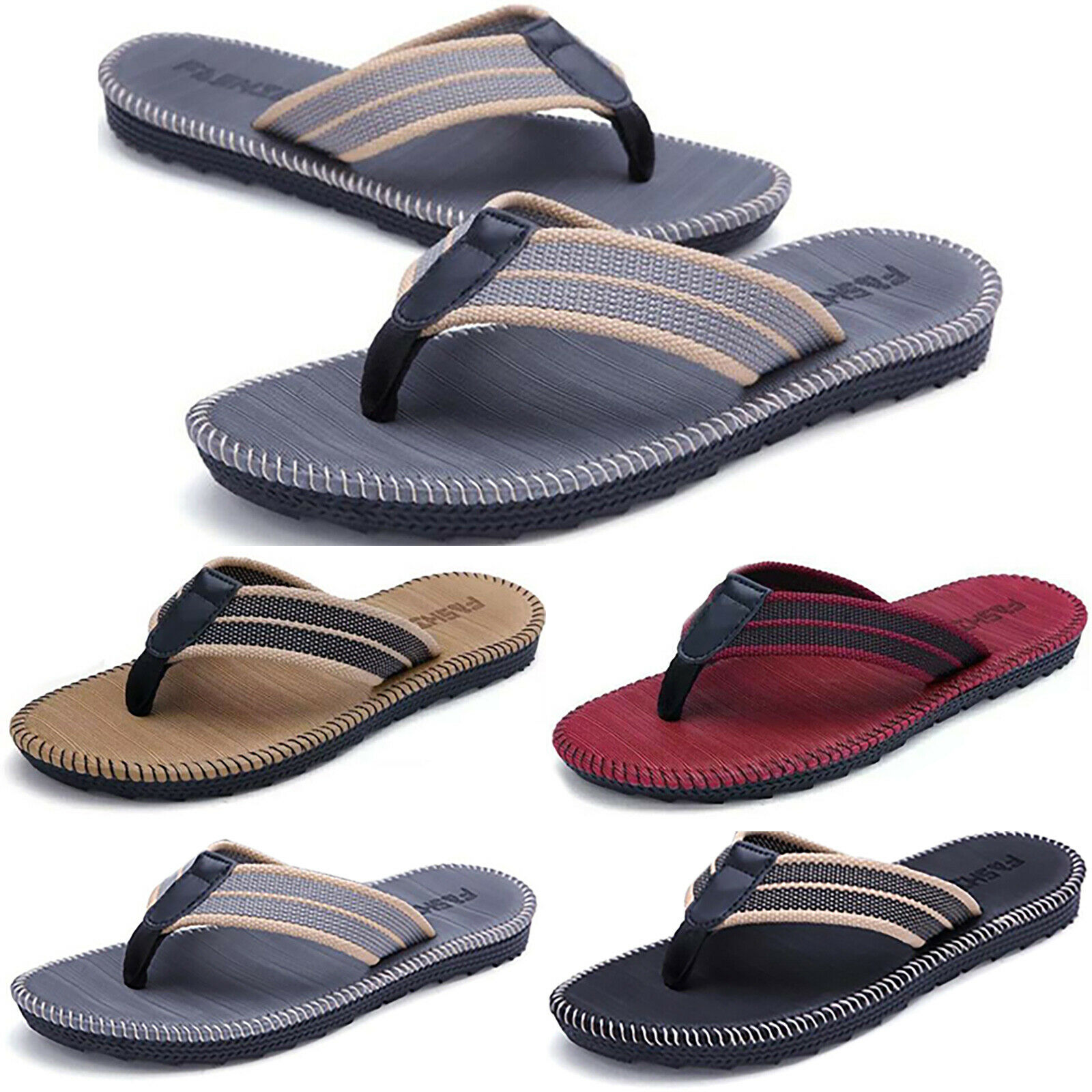 Men's Sandals Flip Flops Beach Pool Thongs Casual Summer Sport Shower Slippers