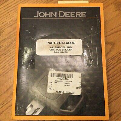 John Deere Jd 640 Parts Manual Catalog Book Log Skidder Grapple Guide Pc-1518