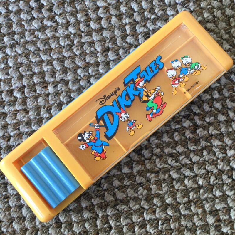 Vintage Disney Duck Tales Pencil Case Box 80s Cartoon Rare