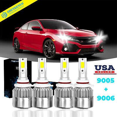 For Honda Civic 2006-2011 Sedan Replacement LED Headlights Bulbs Kit 6000K