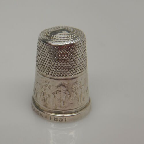 Victorian SILVER THIMBLE GREAT EXHIBITION 1851