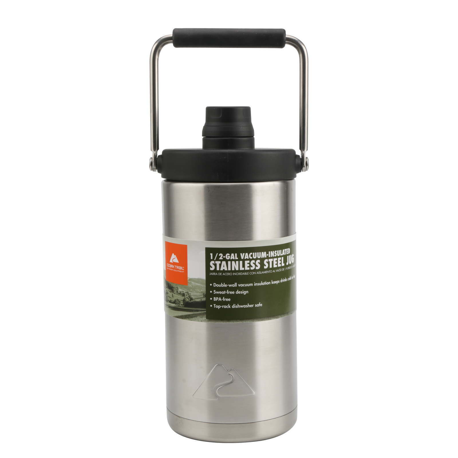 Ozark Trail 1/2 Gallon Double Wall Vacuum Sealed Stainless S
