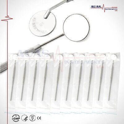 10 Pcs Dental Mouth Mirror Anti Fog 5 - With Handle- Dental Instrument