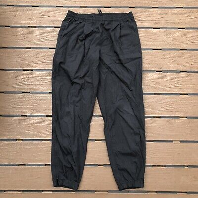 Vintage Nike Men's Size Large (L) Black Drawstring Track Pants Jogger